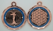 Buy 1 Get 1 FREE Energy Pendant Copper/Teal Blue with Stones
