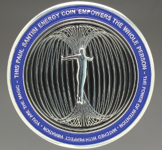 BLUE/SILVER Paul Santisi Energy Coin BUY 2 GET 1 + FREE SHIPPING