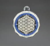 Energy Pendant Silver/Blue with Stones + FREE SHIPPING