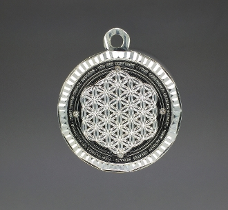 Paul Santisi Energy Pendant Black/Silver With Stones + FREE SHIP