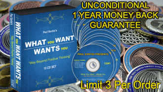 COMBO Energy Coin or Pendant + 15CD Set What You Want Wants You