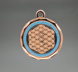 Energy Pendant Copper/Blue Teal No Stones + FREE SHIPPING