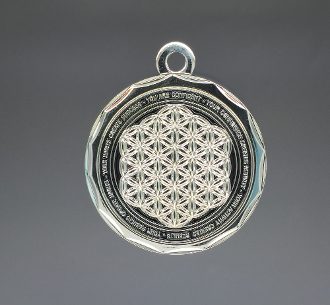 Energy Pendant Black/Silver No Stones FREE SHIPPING