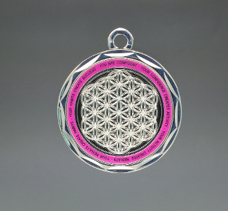 Energy Pendant Pink/Silver no stones + FREE SHIPPING