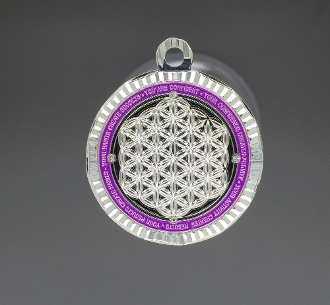 Energy Pendant Indigo/Silver with Stones + FREE SHIPPING