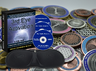 COMBO Energy Coin or Pendant + 3CD 3rd Eye Activation Eye Mask