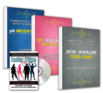 3 Book Package Health Weight Loss Recipes Alkaline Foods+BONUS