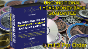 COMBO Energy Coin or Pendant + 4CD Set Detach Over Thinking Mind
