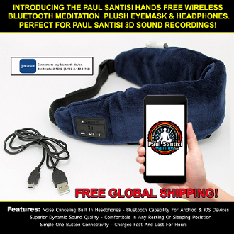 Wireless Eye Mask (listen in comfort while you sleep) FREE SHIP