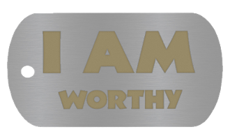 "NEW ""I AM WORTHY"" Empowerment Energy Tags PLUS FREE SHIPPING"