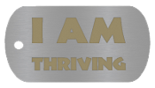 "NEW ""I AM THRIVING "" Empowerment Energy Tags PLUS FREE SHIPPING"