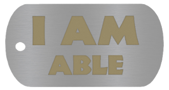 "NEW ""I AM ABLE "" Empowerment Energy Tag + FREE SHIPPING"